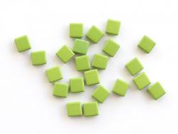 Acheter Lot de 10 perles tuiles carrées en métal de 7x7 mm - Vert - 3,99€ en ligne sur La Petite Epicerie - Loisirs créatifs