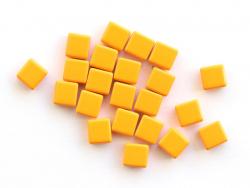 Acheter Lot de 10 perles tuiles carrées en métal de 7x7 mm - Orange - 3,99€ en ligne sur La Petite Epicerie - Loisirs créatifs