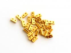 Acheter Lot de 10 perles tuiles fines en métal de 3x7 mm - Doré - 3,49€ en ligne sur La Petite Epicerie - Loisirs créatifs