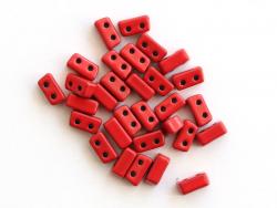 Acheter Lot de 10 perles tuiles fines en métal de 3x7 mm - Rouge - 3,49€ en ligne sur La Petite Epicerie - Loisirs créatifs