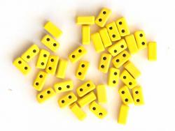 Acheter Lot de 10 perles tuiles fines en métal de 3x7 mm - Jaune - 3,49€ en ligne sur La Petite Epicerie - Loisirs créatifs