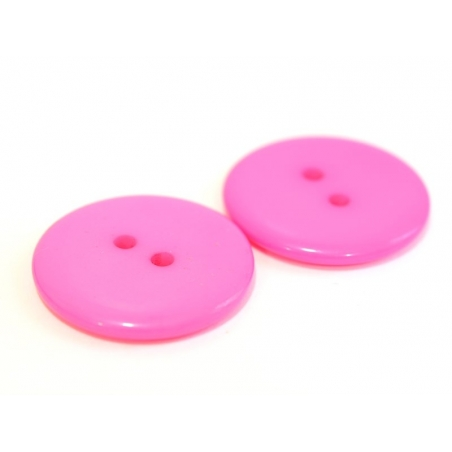 Candy pink plastic button (23 mm)