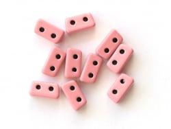 Acheter Lot de 10 perles tuiles fines en métal de 3 x 7 mm - Rose - 3,49€ en ligne sur La Petite Epicerie - Loisirs créatifs