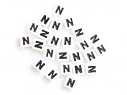 Acheter 1 perle tuile carrée en métal de 7x7 mm - Lettre N - 0,69€ en ligne sur La Petite Epicerie - Loisirs créatifs