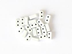 Acheter Lot de 10 perles tuiles fines en métal de 3 x 7 mm - Blanc - 3,49€ en ligne sur La Petite Epicerie - Loisirs créatifs
