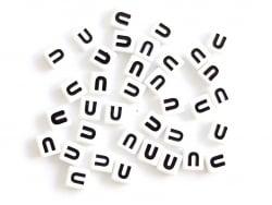 Acheter 1 perle tuile carrée en métal de 7x7 mm - Lettre U - 0,69€ en ligne sur La Petite Epicerie - Loisirs créatifs