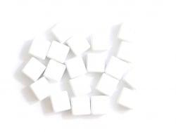 Acheter Lot de 10 perles tuiles carrées en métal de 7x7 mm - Blanc - 3,99€ en ligne sur La Petite Epicerie - Loisirs créatifs