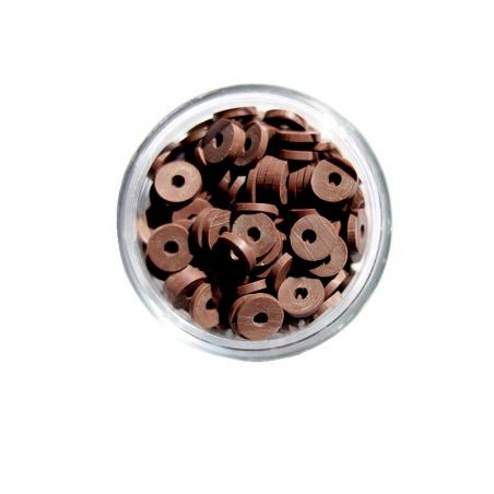 Acheter Boite de perles rondelles heishi 6 mm - marron - 1,99€ en ligne sur La Petite Epicerie - Loisirs créatifs