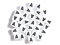 Acheter 1 perle tuile carrée en métal de 7x7 mm - Lettre A - 0,69€ en ligne sur La Petite Epicerie - Loisirs créatifs