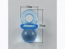 Acheter Lot de 10 petites tétines en plastique - bleu - 1,99€ en ligne sur La Petite Epicerie - Loisirs créatifs