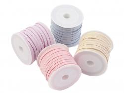 Acheter Bobine 5 m de cordon simili cuir 4 mm - Rose - 2,49€ en ligne sur La Petite Epicerie - Loisirs créatifs