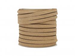 Acheter Bobine 5 m de cordon simili cuir 4 mm - Beige - 5,99€ en ligne sur La Petite Epicerie - Loisirs créatifs