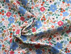 Acheter Tissu coton Rifle Paper - Wild Rose Cream - 2,15€ en ligne sur La Petite Epicerie - Loisirs créatifs