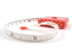 Red measuring tape - polka dots