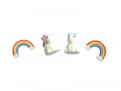 Acheter Lot de 4 gommes licornes et arc-en-ciel - Gogopo - 2,49€ en ligne sur La Petite Epicerie - Loisirs créatifs