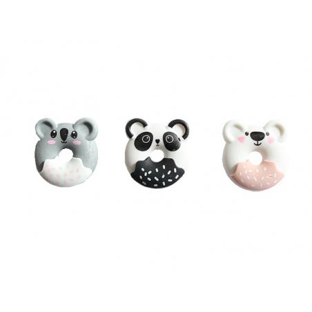 Acheter Lot de 3 gommes animaux donuts - Gogopo - 2,49€ en ligne sur La Petite Epicerie - Loisirs créatifs