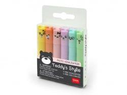 Acheter Lot de 6 mini surligneurs pastels - Teddy's Style - 4,49€ en ligne sur La Petite Epicerie - Loisirs créatifs