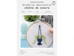 Acheter Kit de broderie décorative - Chaîne de coeurs - Les French Kits - 15,99€ en ligne sur La Petite Epicerie - Loisirs c...