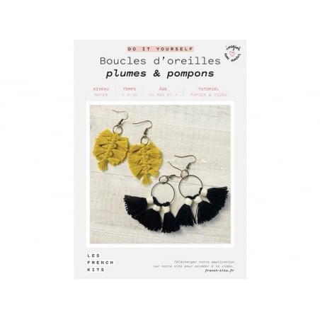 Acheter Kit boucles d'oreilles - Plumes et pompons - Les French Kits - 13,99€ en ligne sur La Petite Epicerie - Loisirs créa...