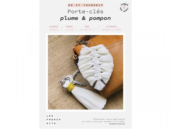 Acheter Kit porte-clés - Plume et pompon - Les French Kits - 13,99€ en ligne sur La Petite Epicerie - Loisirs créatifs