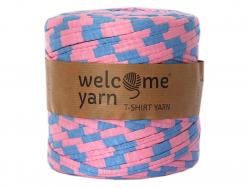 Acheter Grande bobine de fil trapilho - larges rayures roses et bleues - 7,90€ en ligne sur La Petite Epicerie - Loisirs cré...