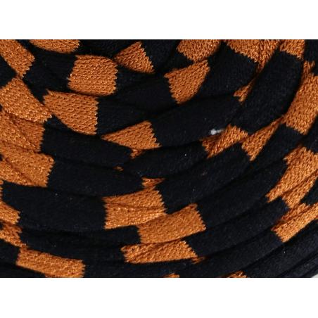 Acheter Grande bobine de fil trapilho - larges rayures noires et caramel - 7,90€ en ligne sur La Petite Epicerie - Loisirs c...