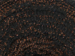 Acheter Grande bobine de fil trapilho - noir et chevrons cuivrées - 7,90€ en ligne sur La Petite Epicerie - Loisirs créatifs