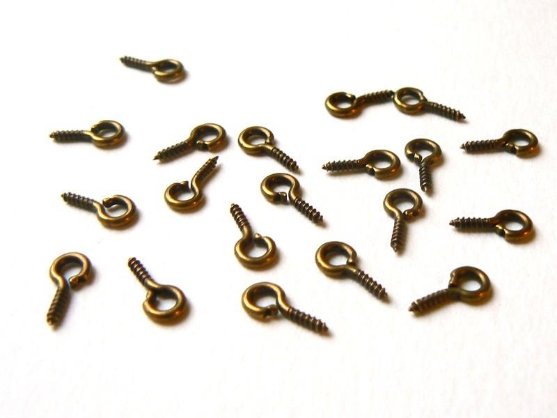 Acheter 20 pitons à vis couleur bronze - 1,99€ en ligne sur La Petite Epicerie - 100% Loisirs créatifs