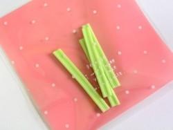 1 sachet plastique adhésif - Rose à pois  - 3