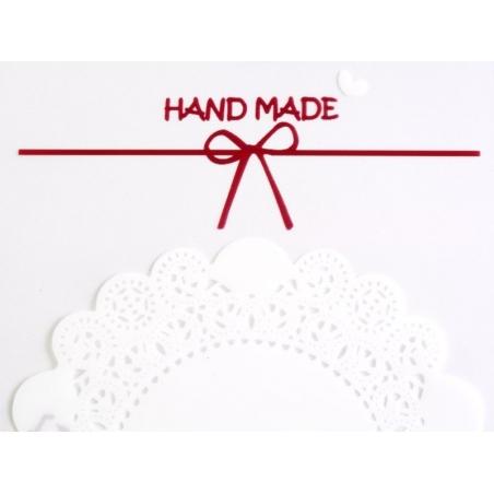 "1 plastic bag with adhesive seal - ""Handmade"""