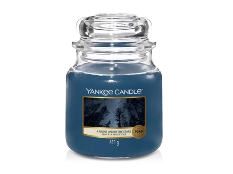 Acheter Bougie Yankee Candle - Nuit à la belle étoile / A night under the stars - Moyenne Jarre - 24,89€ en ligne sur La Pet...