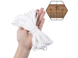 Acheter 15 mètres de cordon élastique plat 4mm - spécial couture de masques de protection covid-19 - 3,99€ en ligne sur La P...