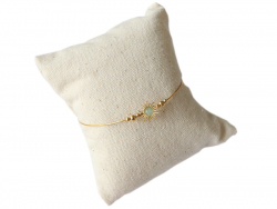 Acheter Bracelet jonc solaire - pierre verte - 10,99€ en ligne sur La Petite Epicerie - Loisirs créatifs