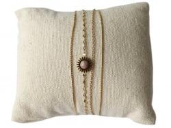 Acheter Bracelet multirang pierre rose - 17,99€ en ligne sur La Petite Epicerie - Loisirs créatifs