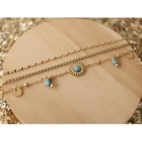 Acheter Bracelet multirang pierre verte - 17,99€ en ligne sur La Petite Epicerie - Loisirs créatifs