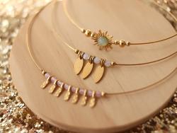 Acheter Bracelet jonc Lila rose pâle - 10,99€ en ligne sur La Petite Epicerie - Loisirs créatifs