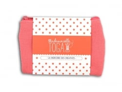 Flat pink zipped pouch - Size S