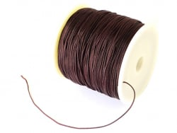 Acheter 1 m de fil de jade / fil nylon tressé 0,5 mm - marron foncé - 0,39€ en ligne sur La Petite Epicerie - Loisirs créatifs