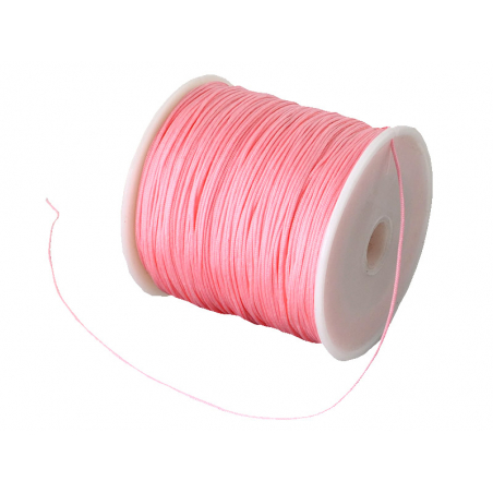 Acheter 1 m de fil de jade / fil nylon tressé 0,5 mm - rose pâle - 0,39€ en ligne sur La Petite Epicerie - Loisirs créatifs