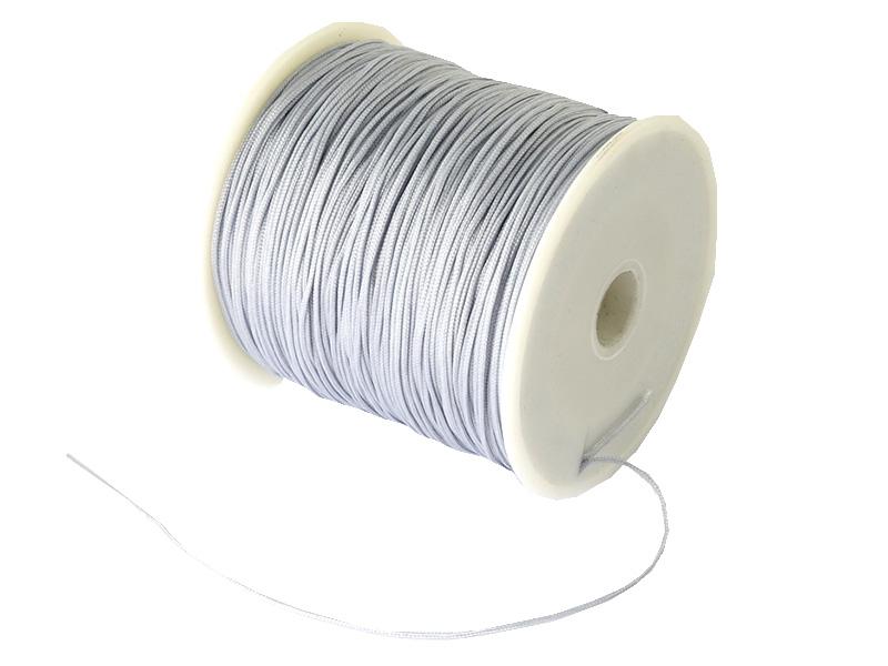 Acheter 1 m de fil de jade / fil nylon tressé 0,5 mm - gris - 0,39€ en ligne sur La Petite Epicerie - Loisirs créatifs