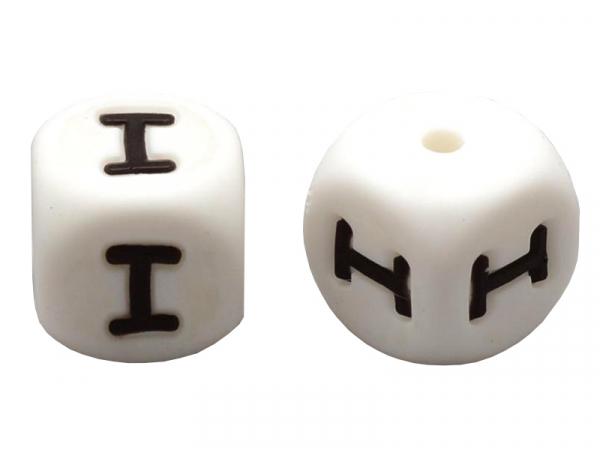 Acheter 1 perle carré 12 mm en silicone - Lettre I - 0,99€ en ligne sur La Petite Epicerie - Loisirs créatifs
