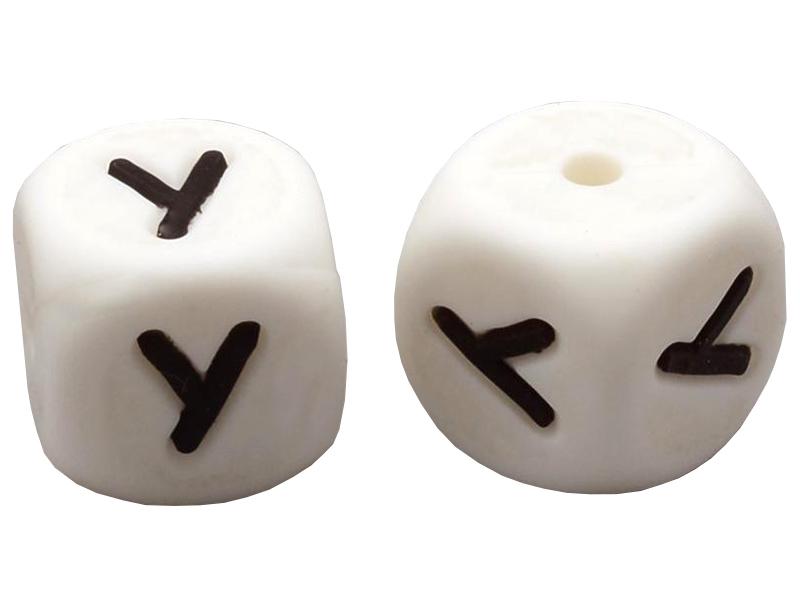 Acheter 1 perle carré 12 mm en silicone - Lettre Y - 0,99€ en ligne sur La Petite Epicerie - Loisirs créatifs