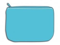 Blue deep zipped pouch - Size M