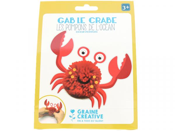 Acheter Kit Gab le crabe - Les pompons de l'océan - 2,39€ en ligne sur La Petite Epicerie - Loisirs créatifs