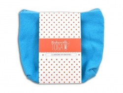 Blue deep zipped pouch - Size M
