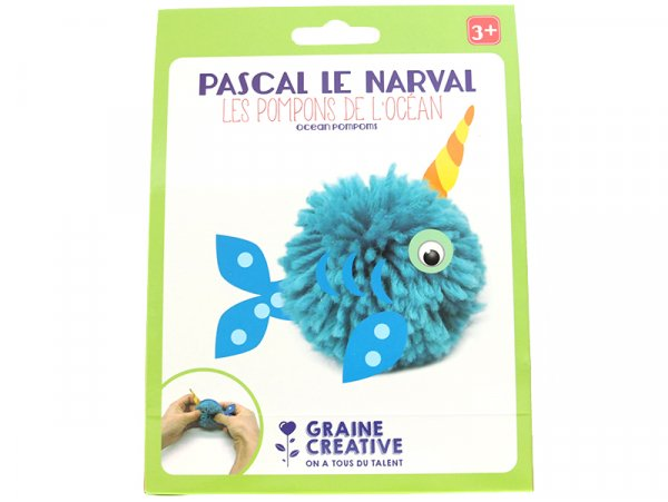 Acheter Kit Pascal le narval - Les pompons de l'océan - 2,39€ en ligne sur La Petite Epicerie - Loisirs créatifs