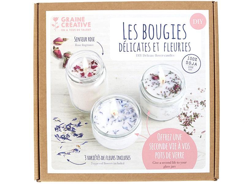 Acheter Coffret Les bougies délicates et fleuries à faire soi-même - 20,99€ en ligne sur La Petite Epicerie - Loisirs créatifs