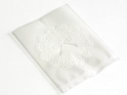 1 sachet plastique - Noeuds blancs