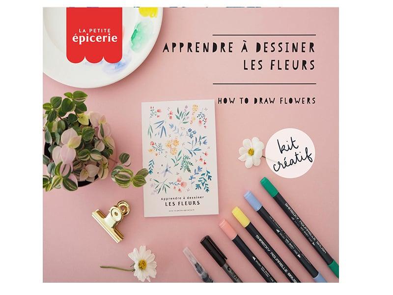 Acheter KIT MKMI - Apprendre à dessiner les fleurs - 16,99€ en ligne sur La Petite Epicerie - Loisirs créatifs