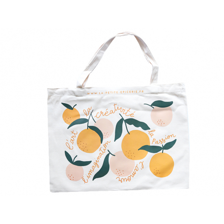 Acheter Tote bag Agrumes - La Petite Epicerie - 9,99€ en ligne sur La Petite Epicerie - Loisirs créatifs